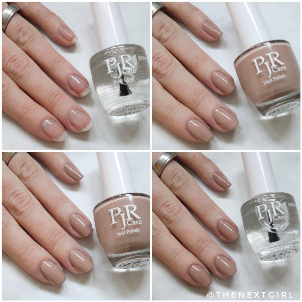 PJR Care nagellak verschillende lagen aanbrengen