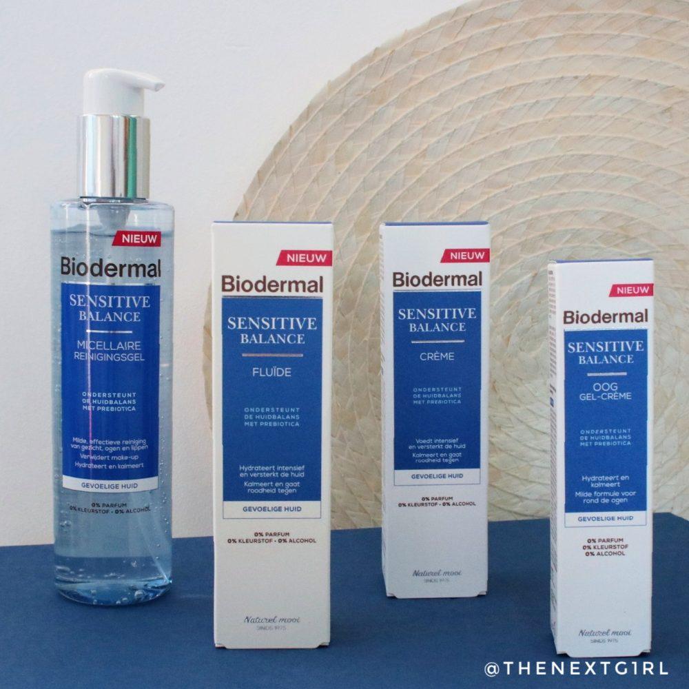 Biodermal Sensitive Balance productlijn verpakkingen