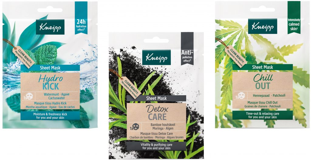 Kneipp Sheet Masks Hydrokick Detoxcare Chillout