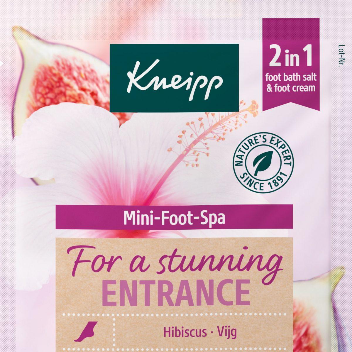 Kneipp Mini Foot Spa vierkant