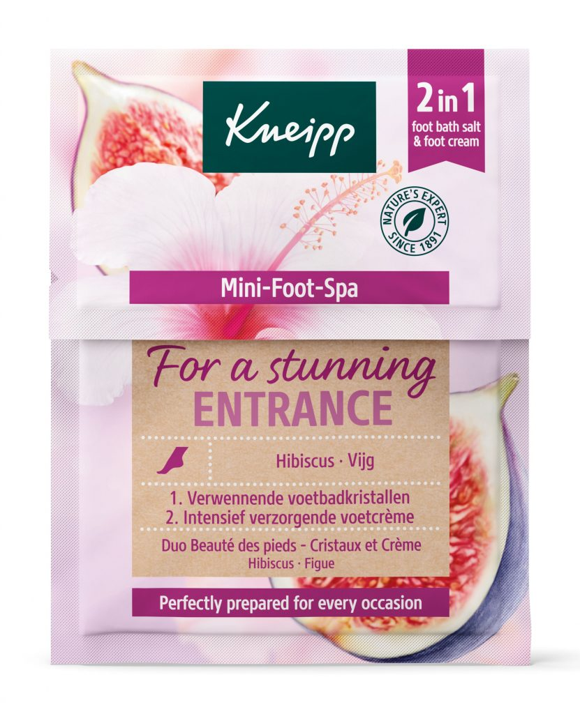 Kneipp voetenbad voetcreme hibiscus vijg