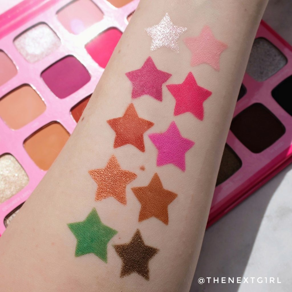 Morphe Jeffree Star swatches 2