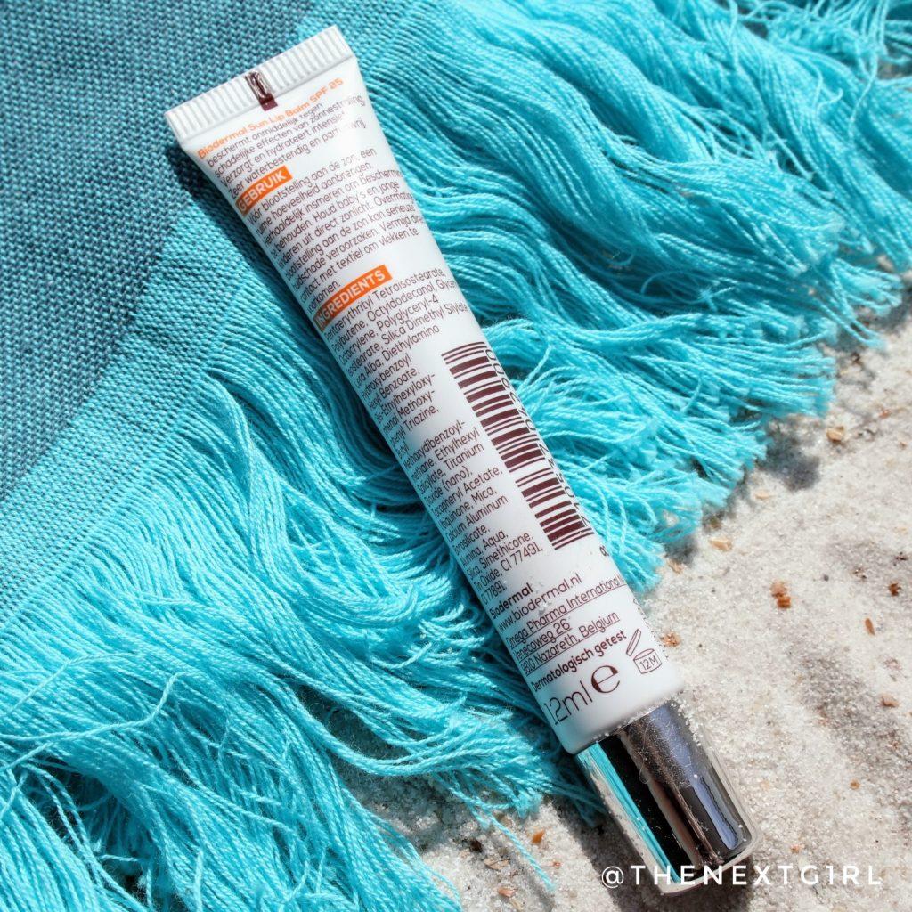 Biodermal zonbescherming lippenbalsem informatie