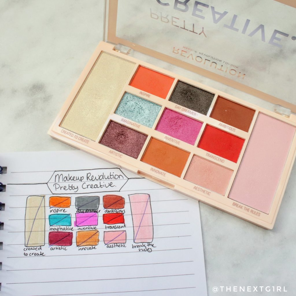 Makeup Revolution Pretty Creative palette No Pan Left Behind juni update