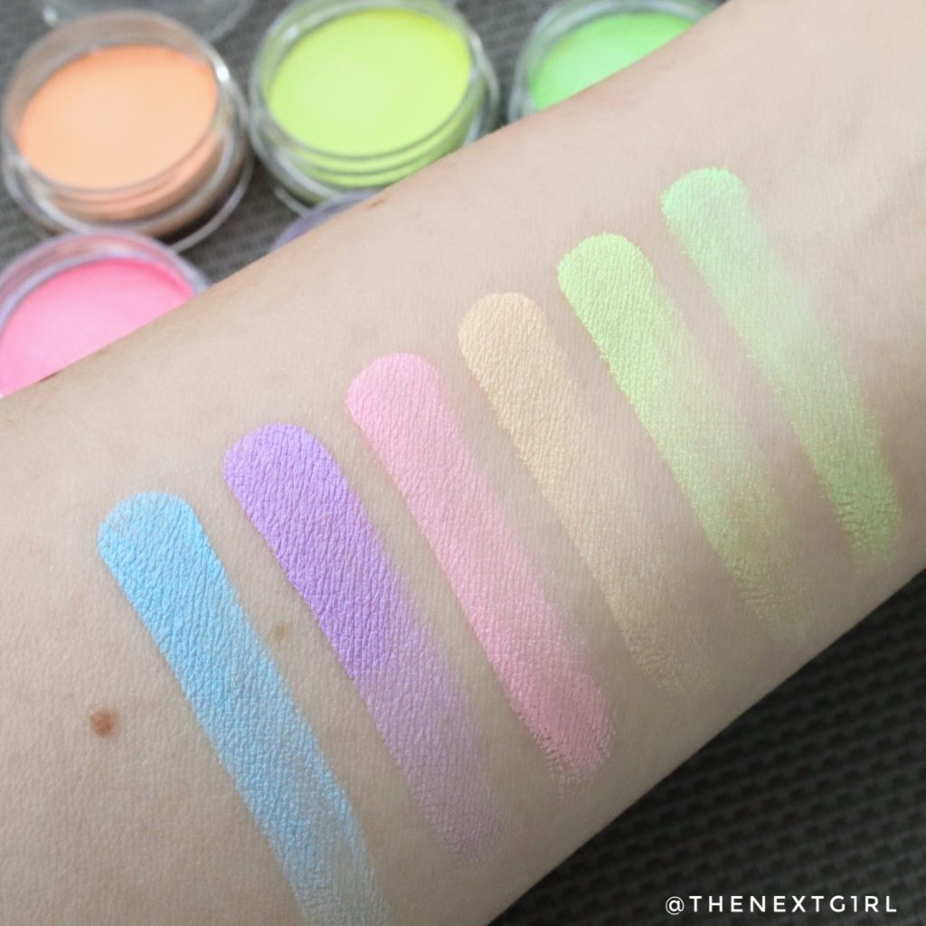 Swatches pastel eyeliners