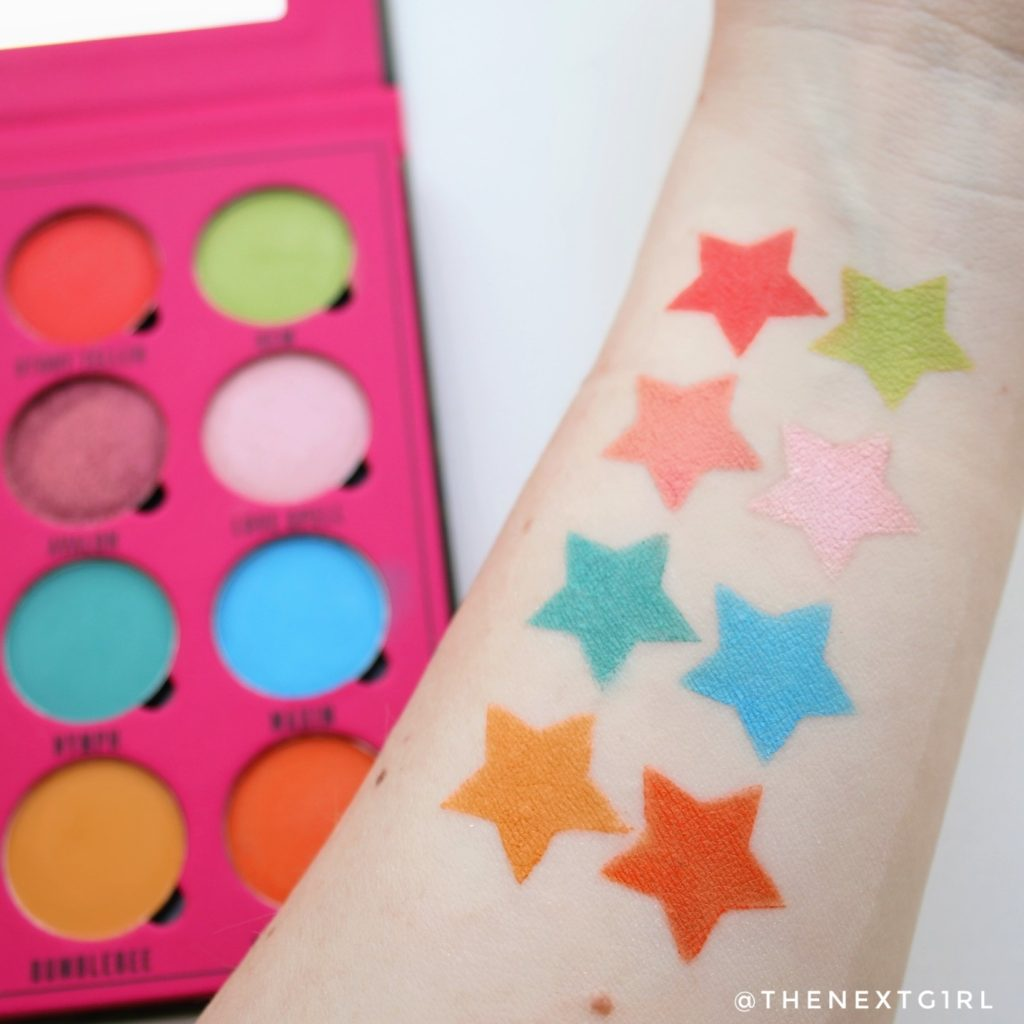 Swatches Makeup Obsession x Rady Daydream oogschaduwpalette 2