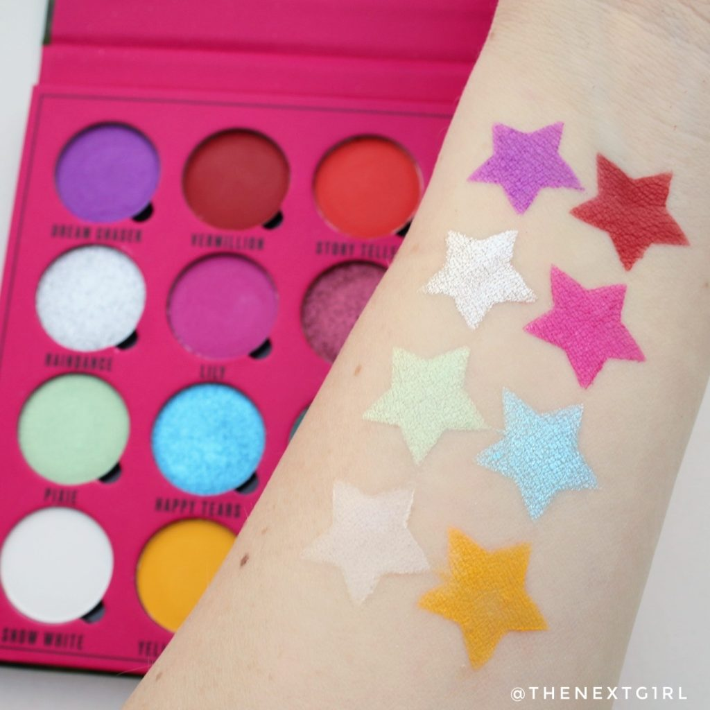 Swatches Makeup Obsession x Rady Daydream oogschaduwpalette 1