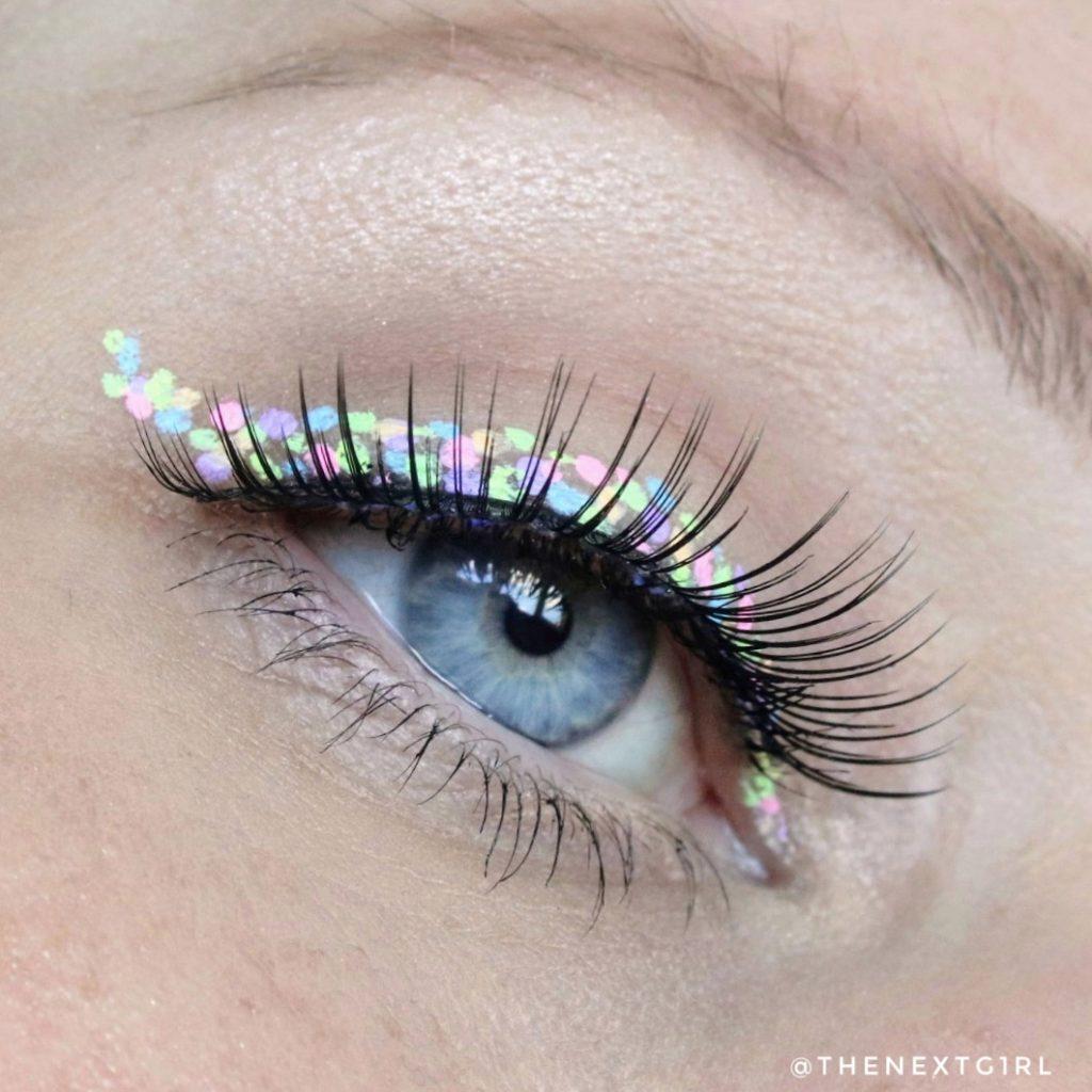 Pastel eyeliners ooglook
