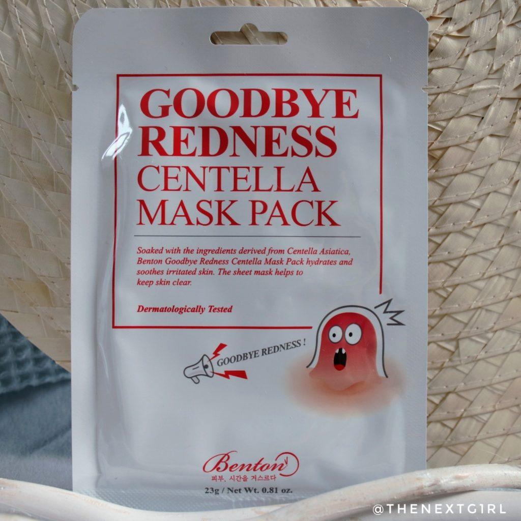 Benton Goodbye Redness Centella Mask Pack sheetmask