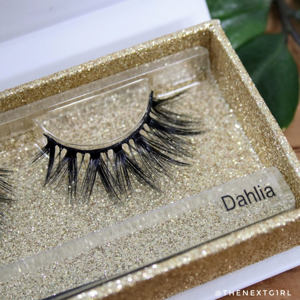 Lashes by Linnie Faux Mink luxury Dahlia close-up