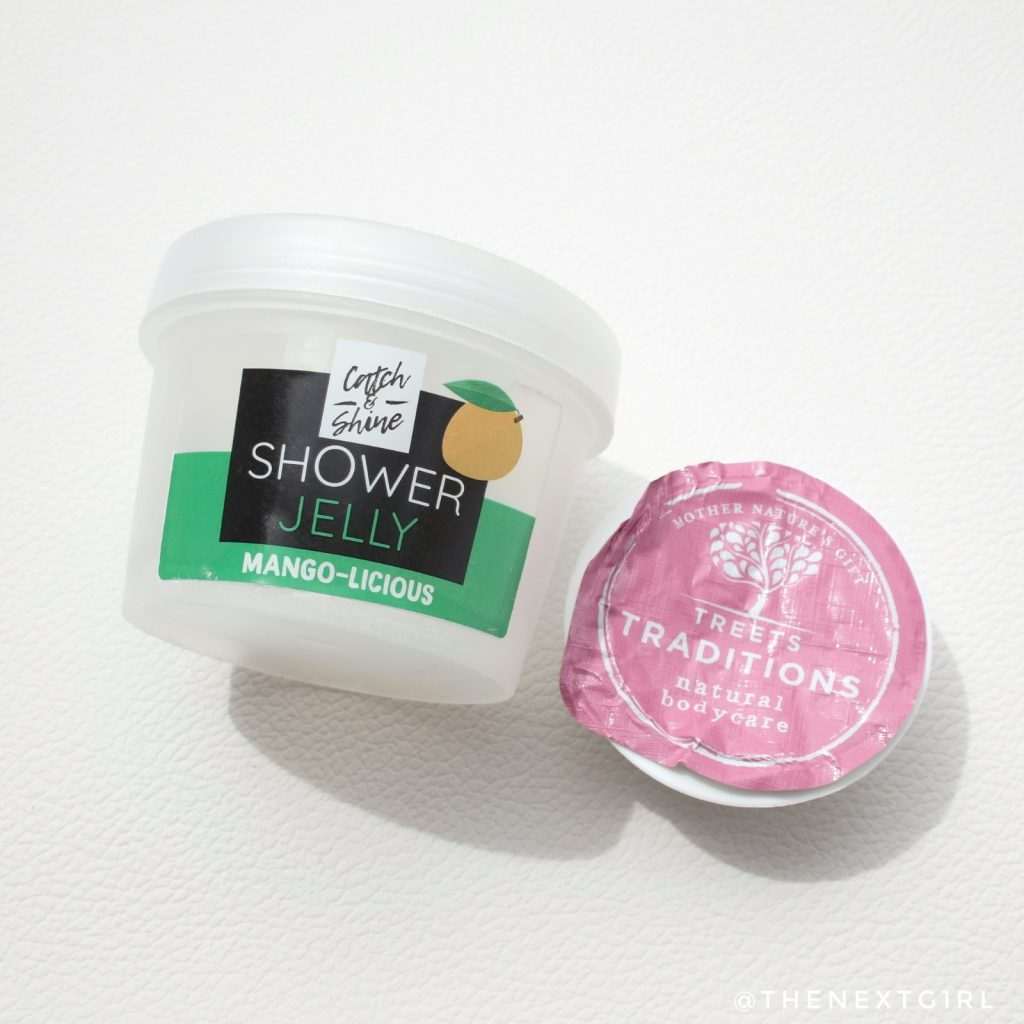 Showerjelly Kruidvat mango geur sample