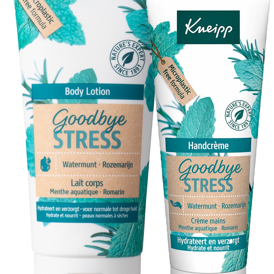 Nieuwsflits: Kneipp Goodbye Stress bodylotion & handcrème