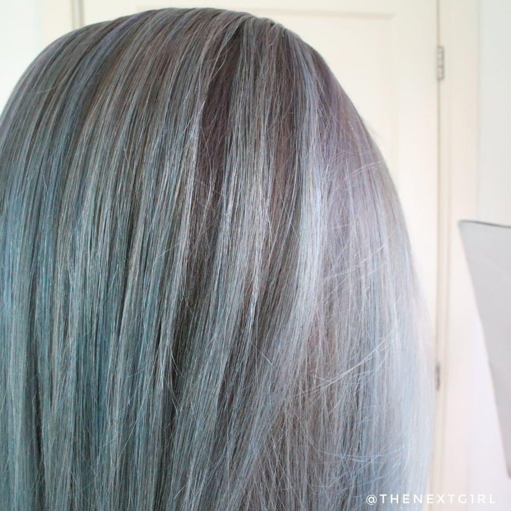 Resultaat Crazy Color paars haar close-up