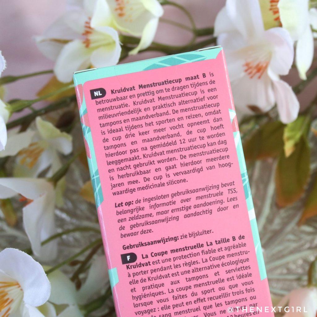 Info over menstruatiecup