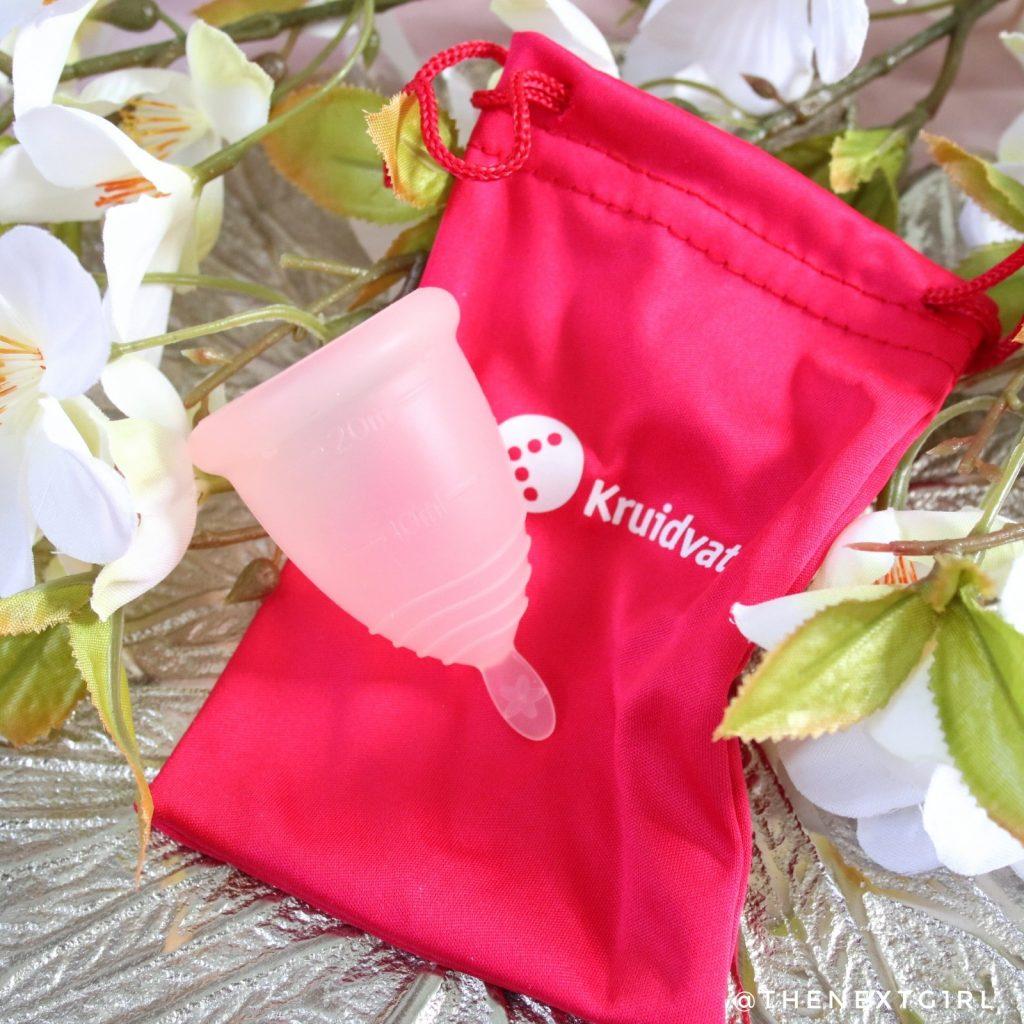 Kruidvat menstruatiecup met opbergzakje
