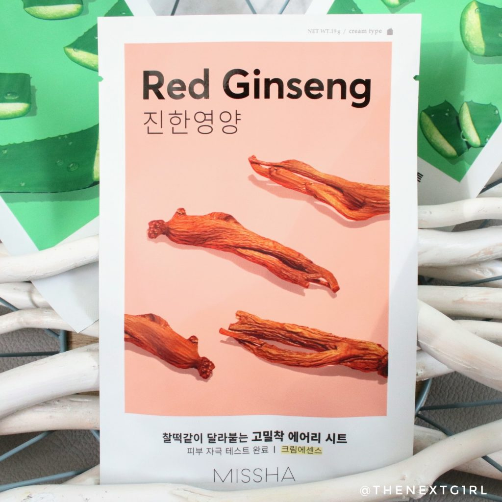 Korean Missha Red Ginseng sheetmask