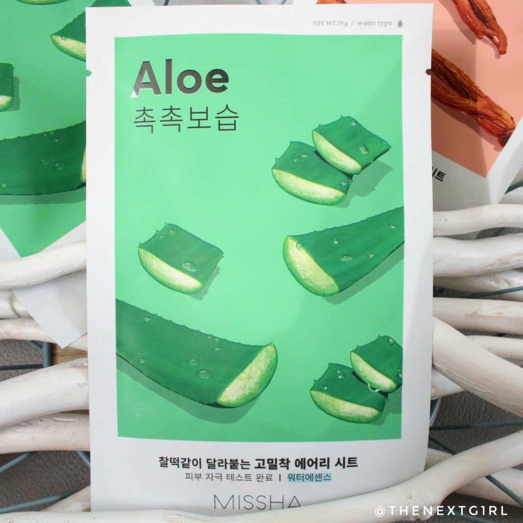 Korean Skincare Missha Aloe sheet masker