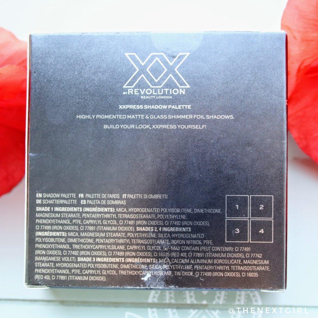 XX Revolution XXposed oogschaduw verpakking achterkant
