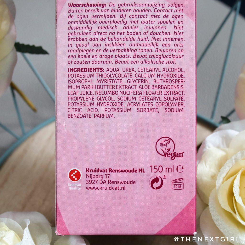 ingredienten kruidvat body ontharingscreme