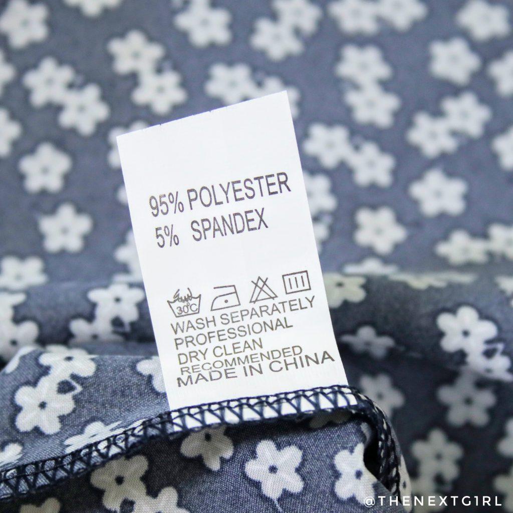 Waslabel blauw wit jurkje ali