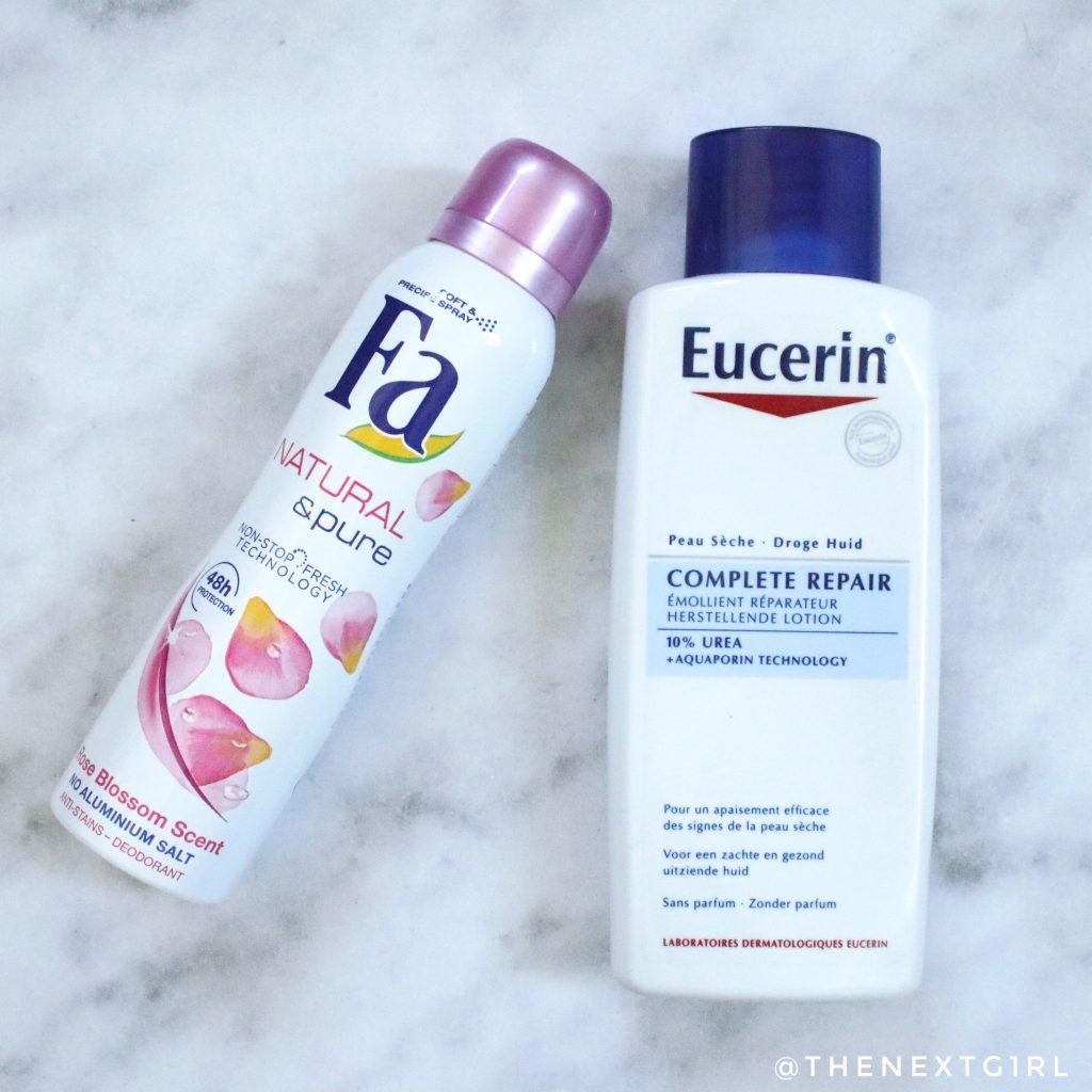 Fa deodorant en Eucerin Complete Repair Urea bodylotion