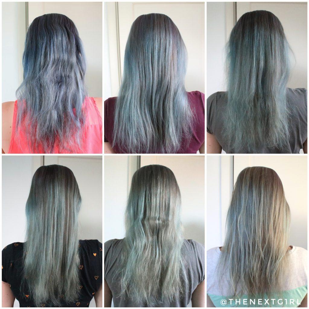 Resultaat Crazy Color paars haar na wasbeurten