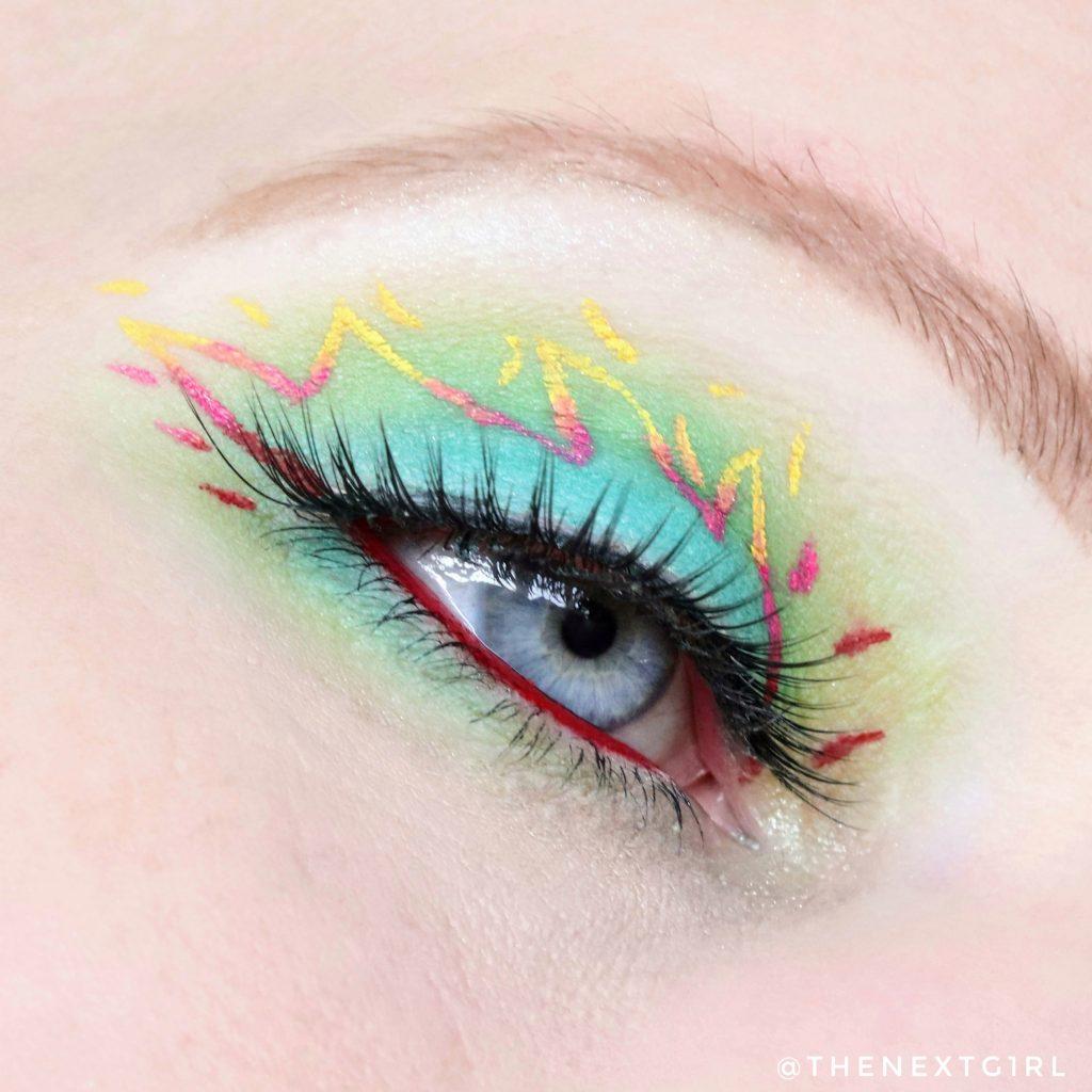 Ooglook met JSC liquid lipstick als eyeliner