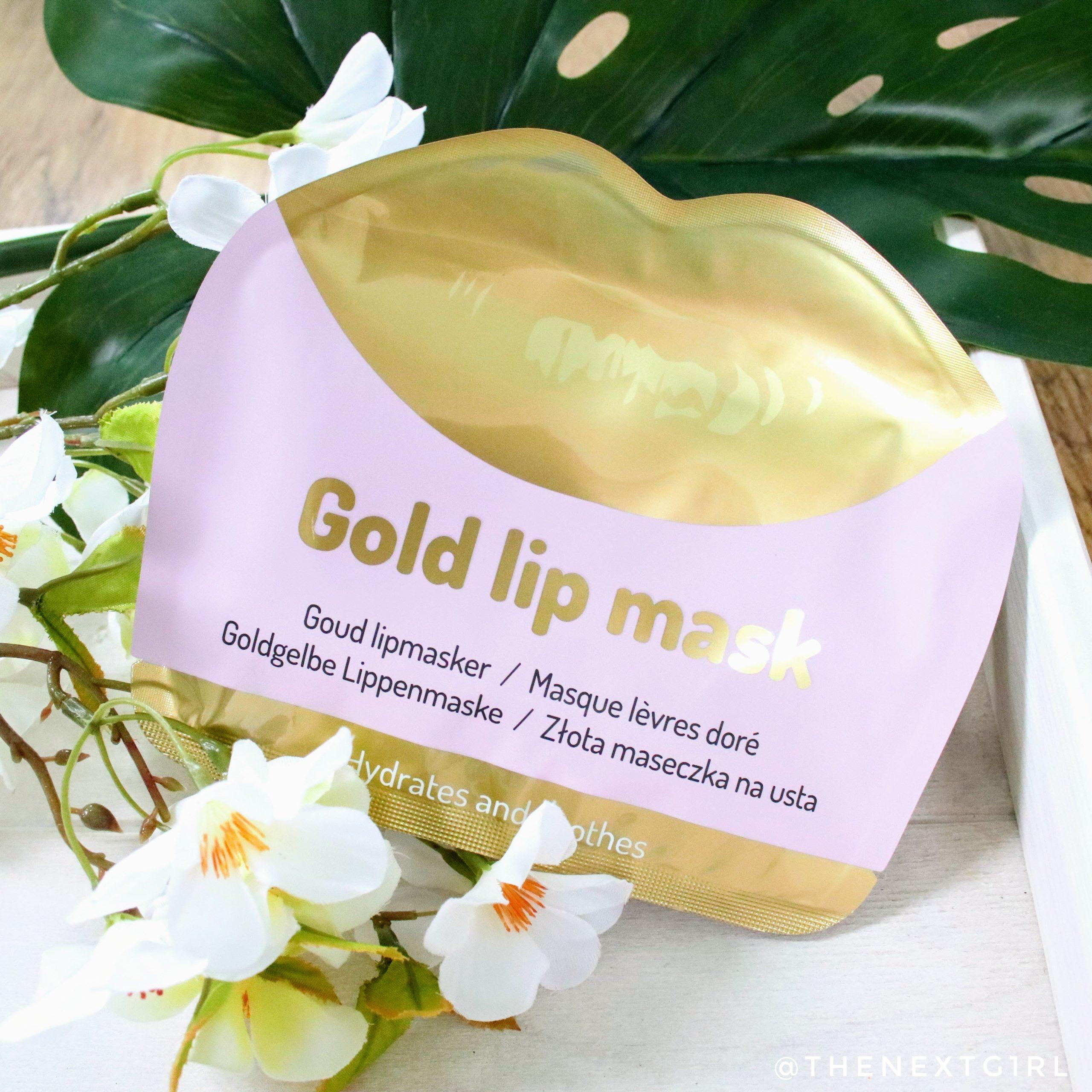 Gold lip mask van Action