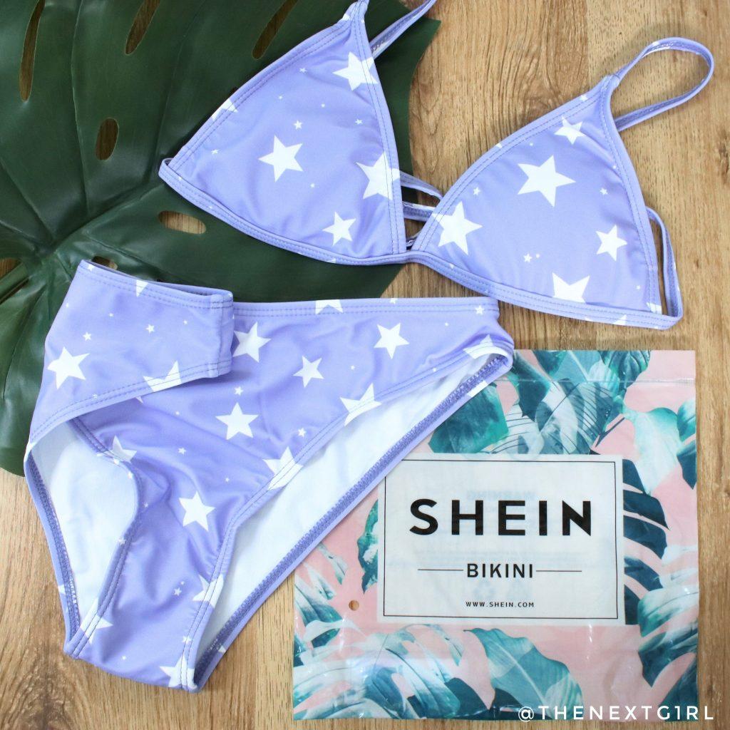 Bikini lila witte sterren SHEIN