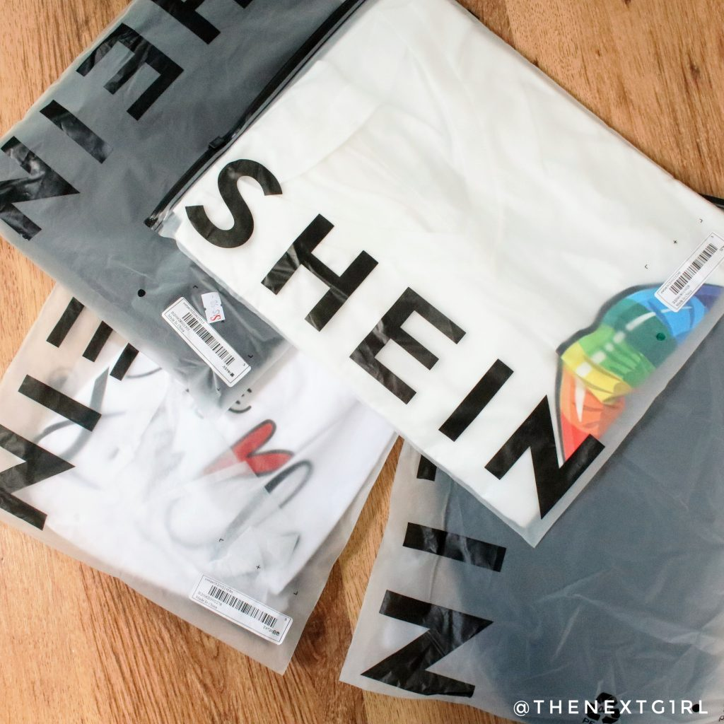 Verpakte artikelen van kleding webshop SHEIN