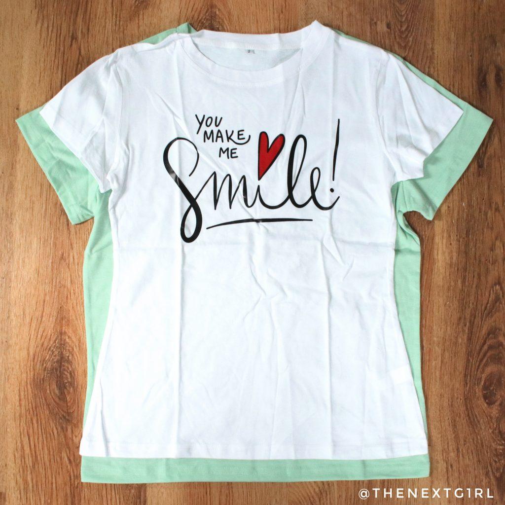 Verschil pasvorm t-shirts SHEIN