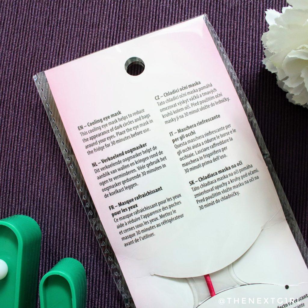 Verpakking herbruikbaar Action oogmasker