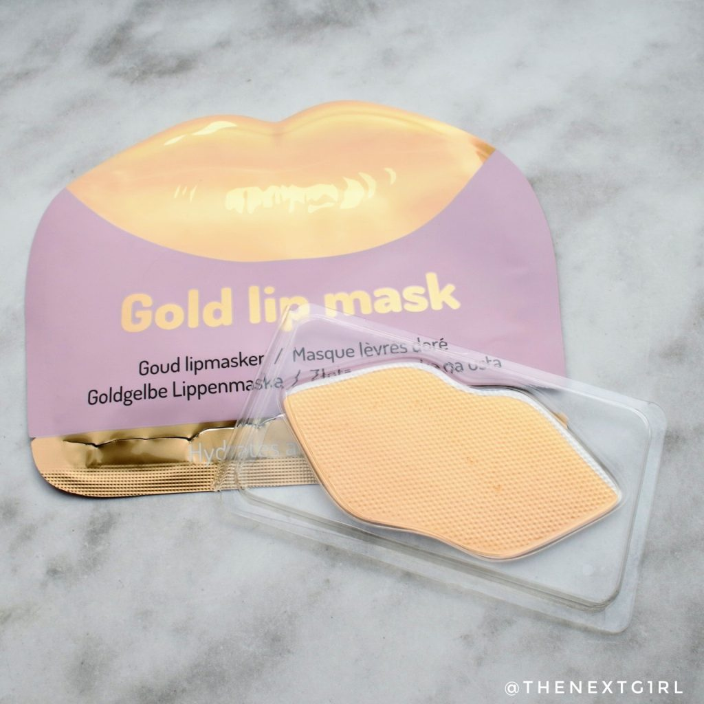 Gold lip mask van Action