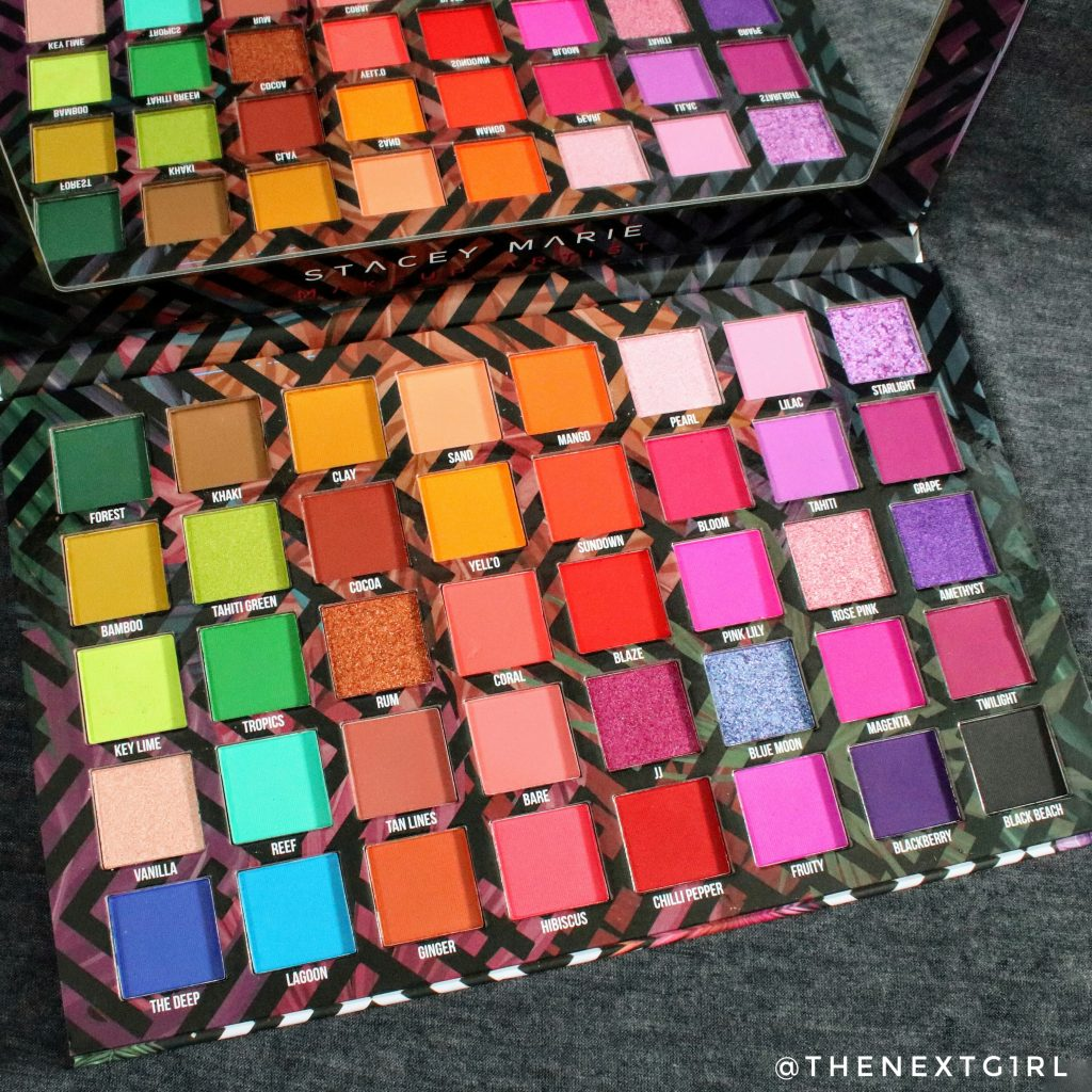 BPerfect Cosmetics Carnival 3 Love Tahiti palette kleuren