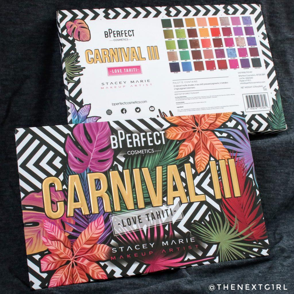 BPerfect Cosmetics Carnival 3 Love Tahiti verpakking