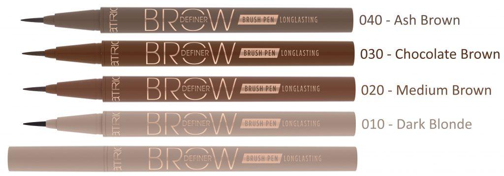 Brow Definer Catrice brush pen kleuren 2020