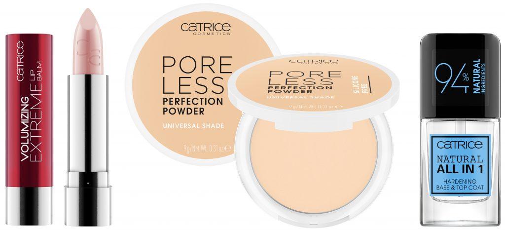 Catrice hardening base top coat extreme lip balm poreless poeder
