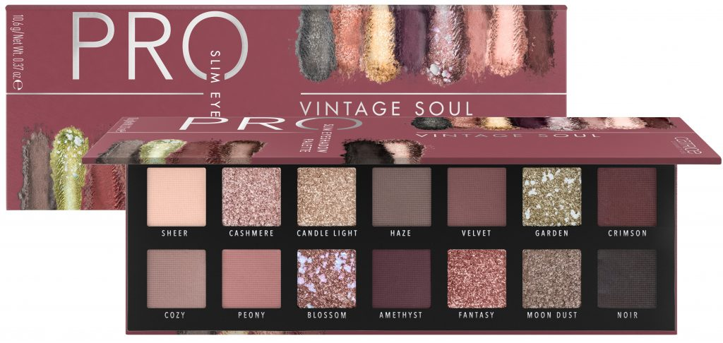 Catrice pro next gen slim eyeshadow palette Vintage Soul 2020