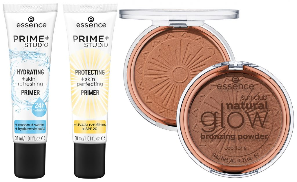 Essence Hydrating Protecting primer Natural Glow bronzing powder 2020
