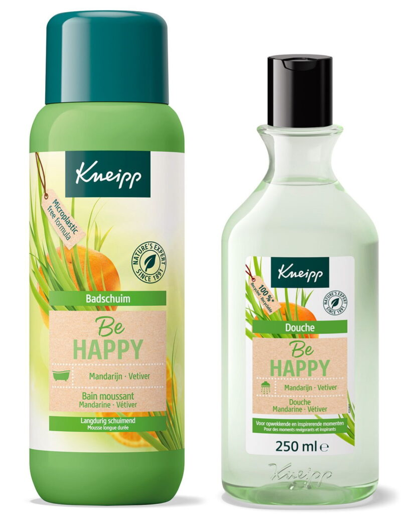 Kneipp Be Happy badschuim douchgel