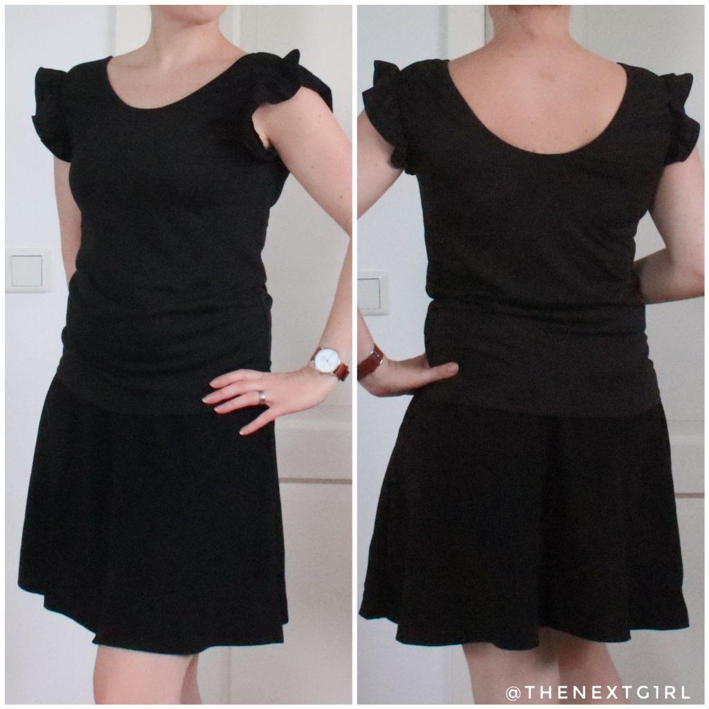 Zwart rokje en shirtje van SHEIN pasvorm