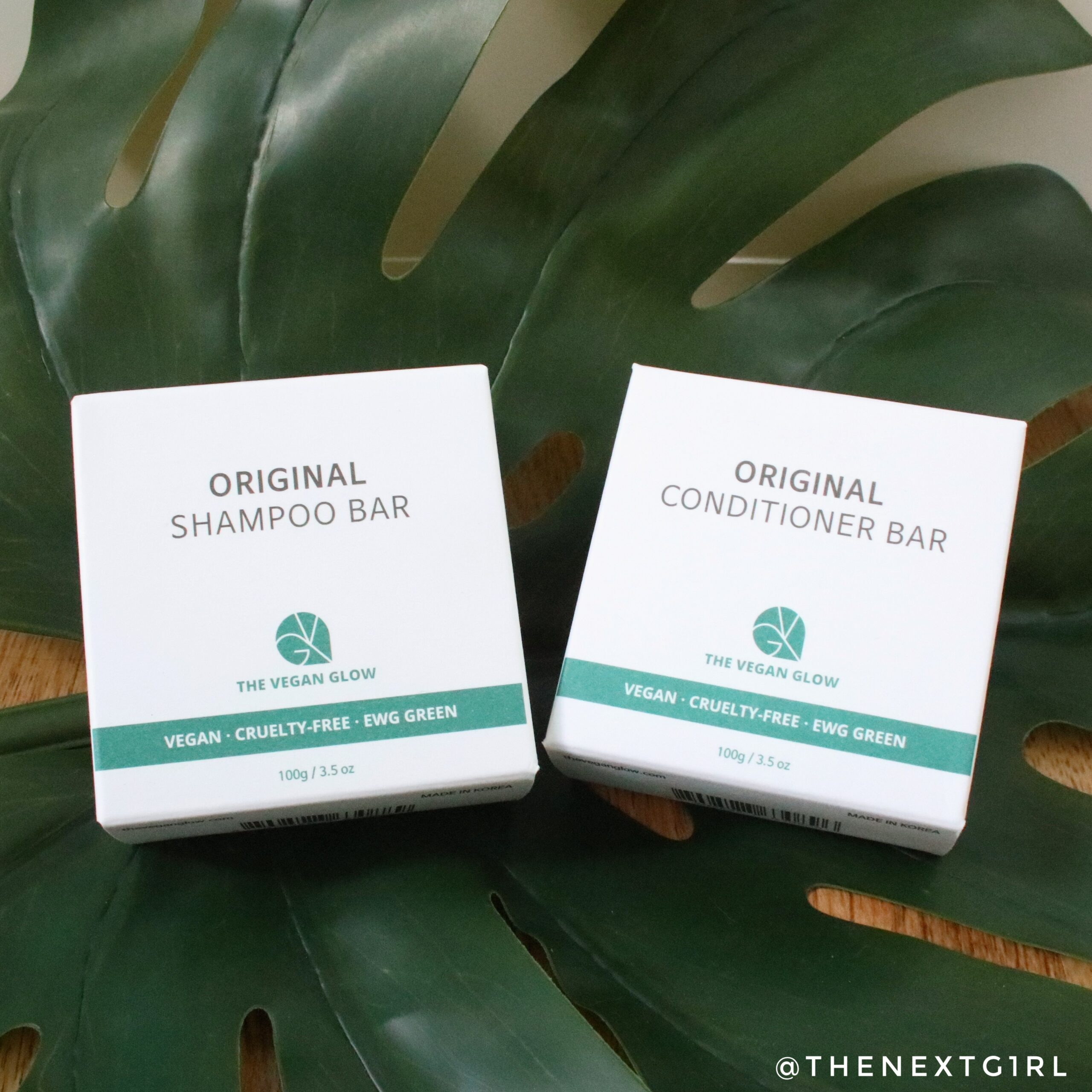 The Vegan Glow shampoo conditioner bar verpakking