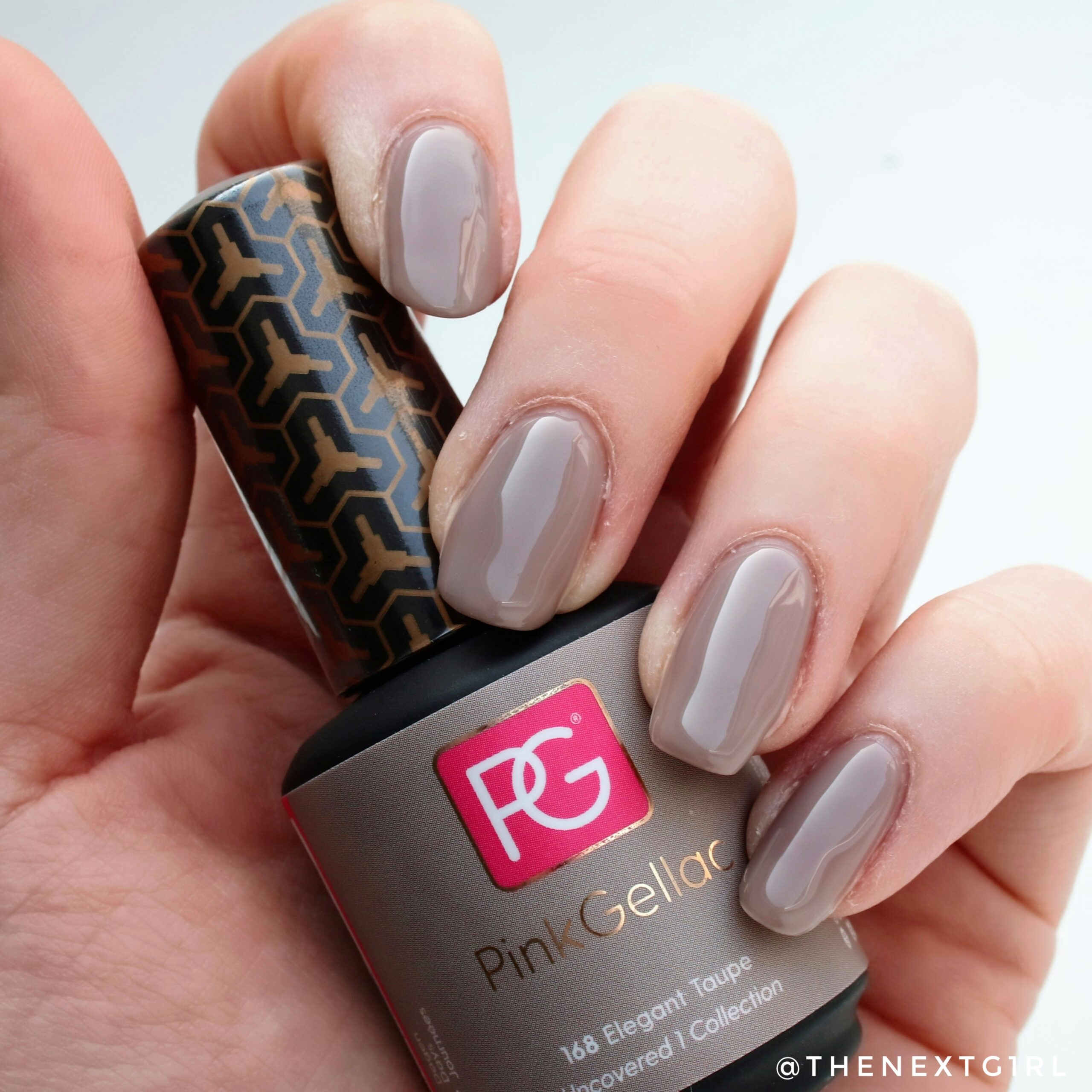 PinkGellac 168 Elegant Taupe Uncovered swatch