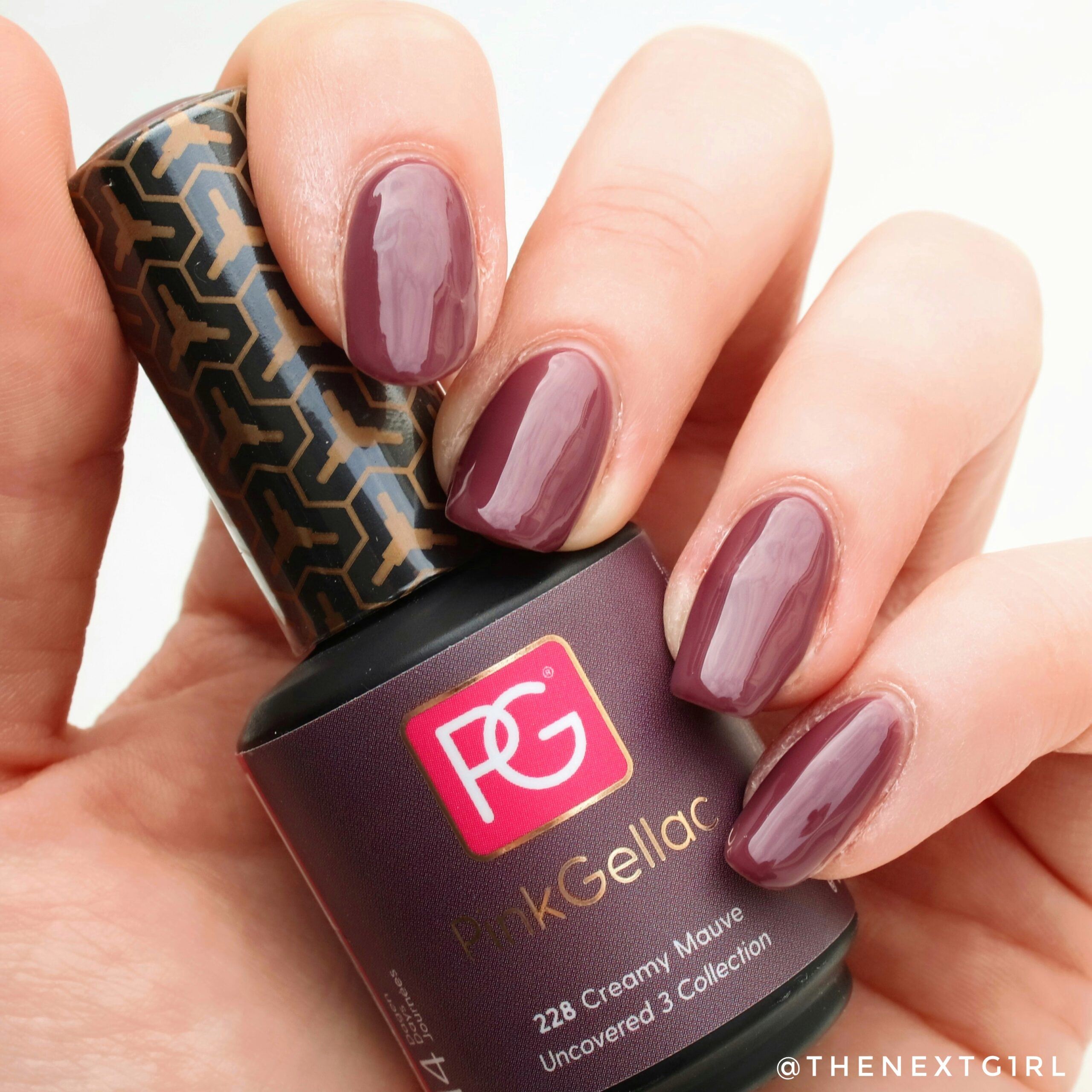 PinkGellac 228 Creamy Mauve Uncovered swatch