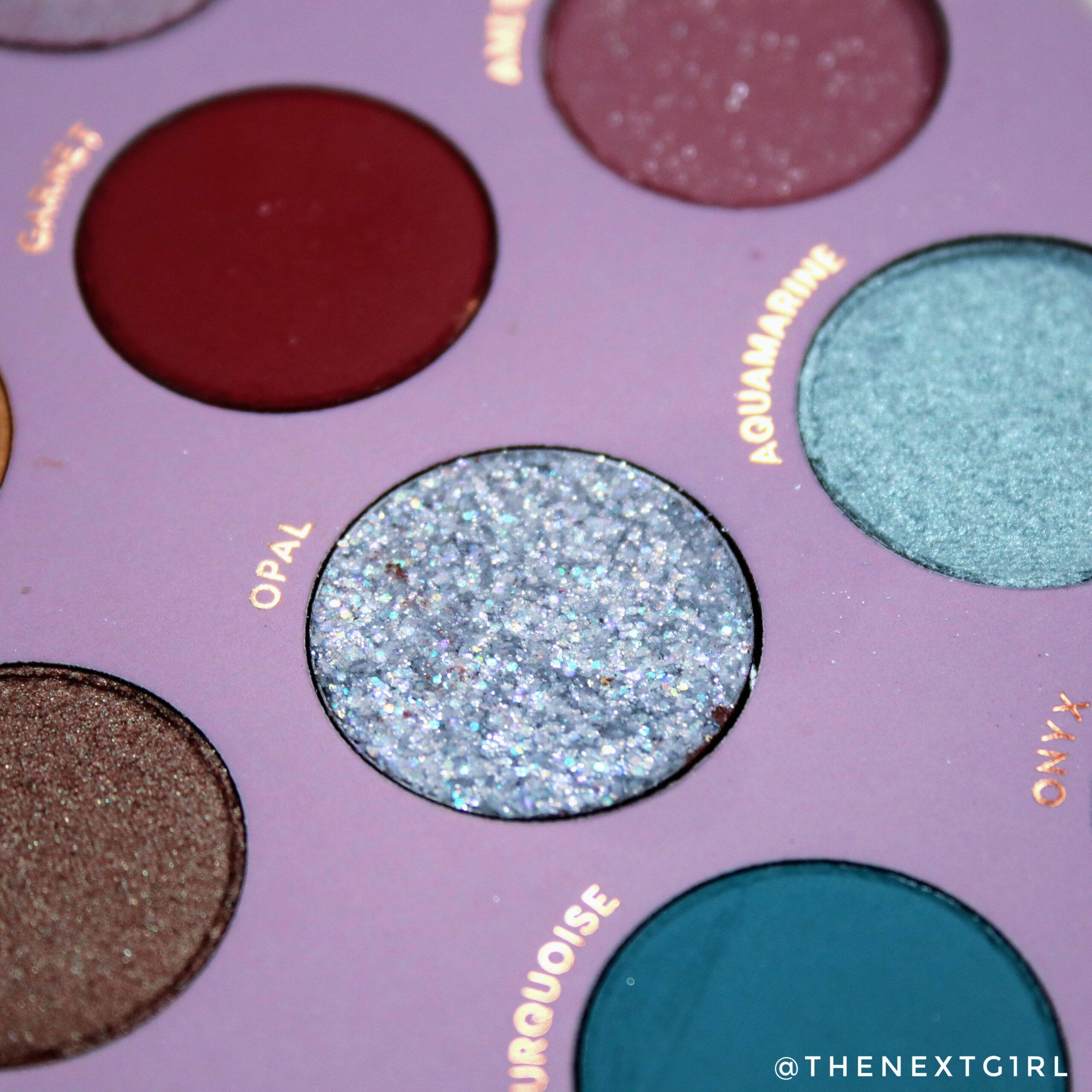 Zilverkleurige pressed glitters Opal
