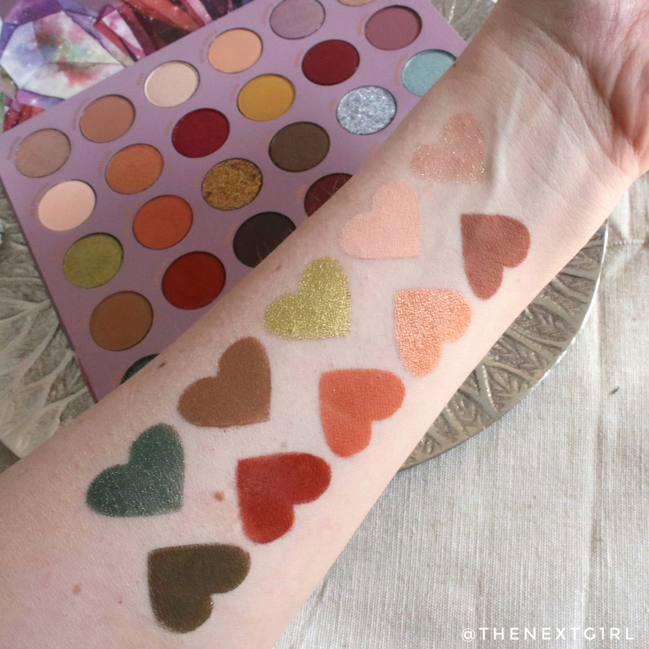 Swatches 1 Colourpop So Jaded palette