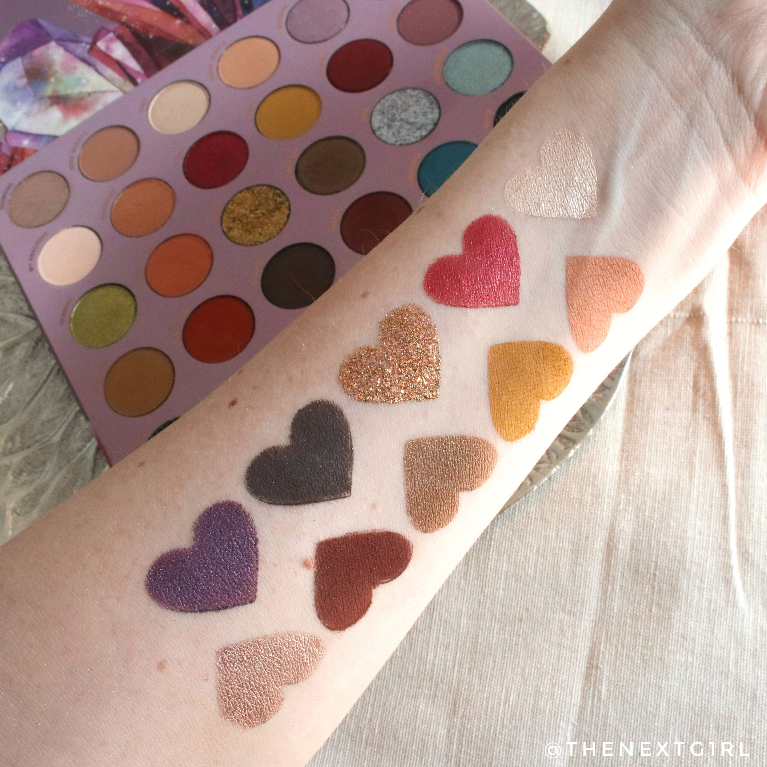 Swatches 3 Colourpop So Jaded palette