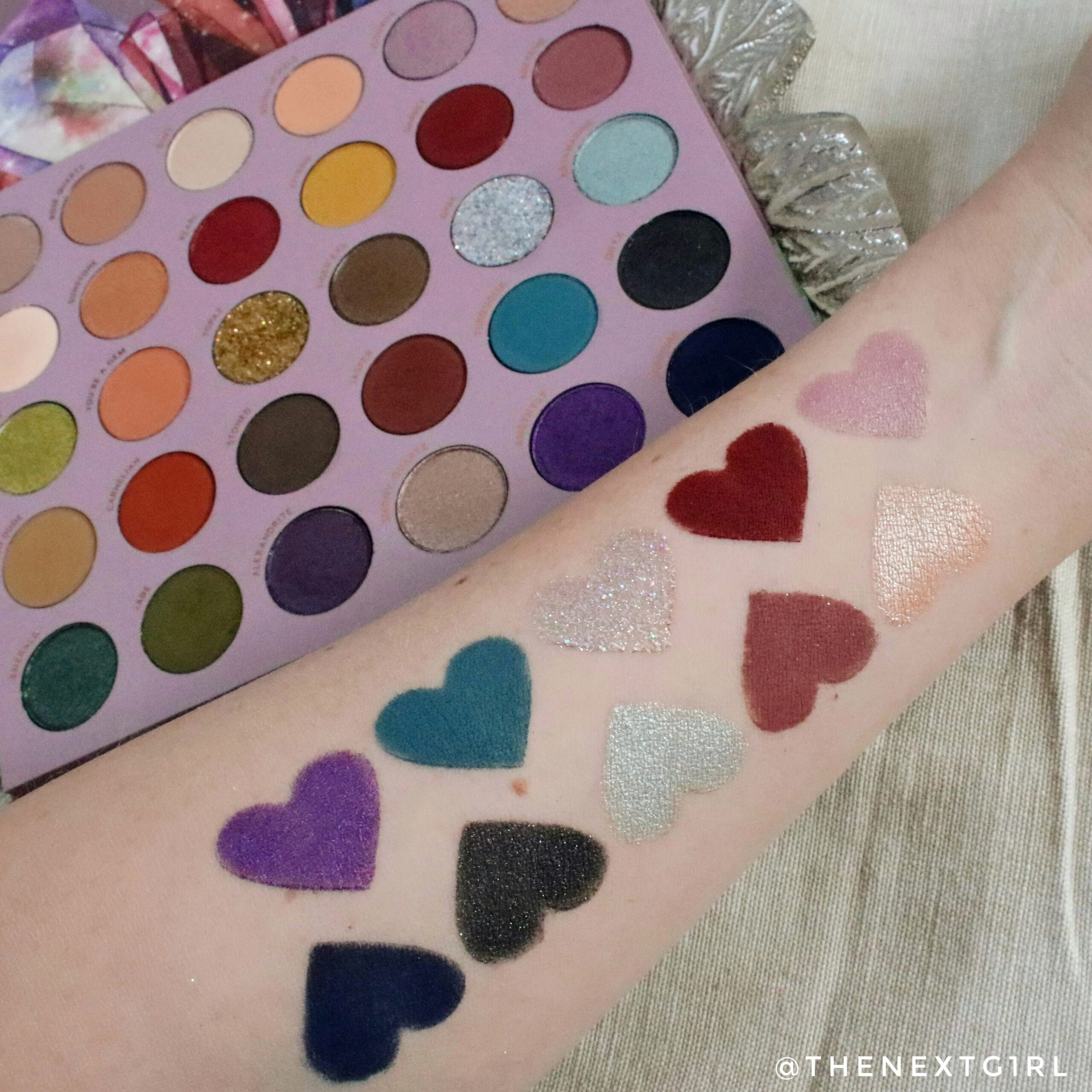 Swatches 2 Colourpop So Jaded palette