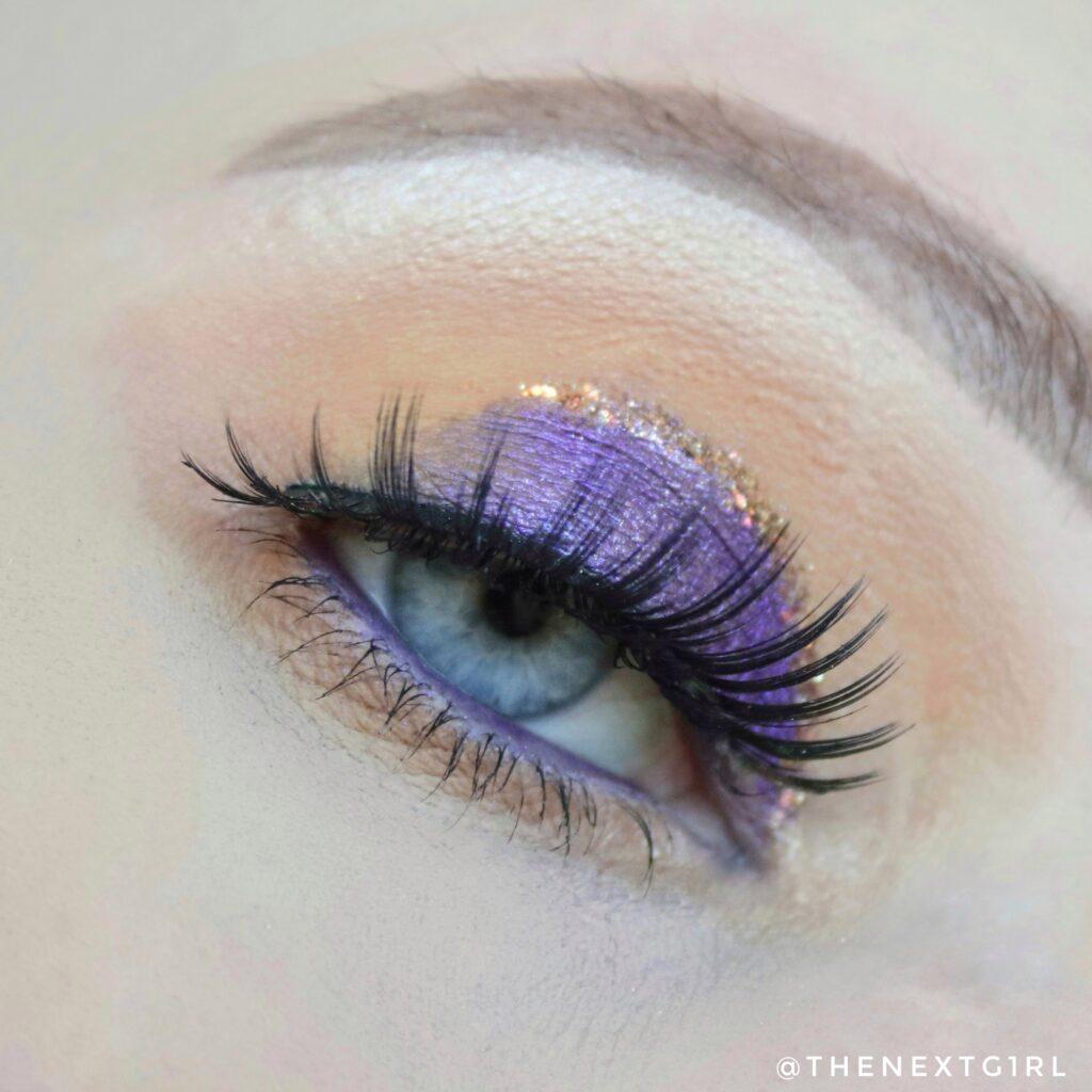 Colourpop paarse look oogshaduw