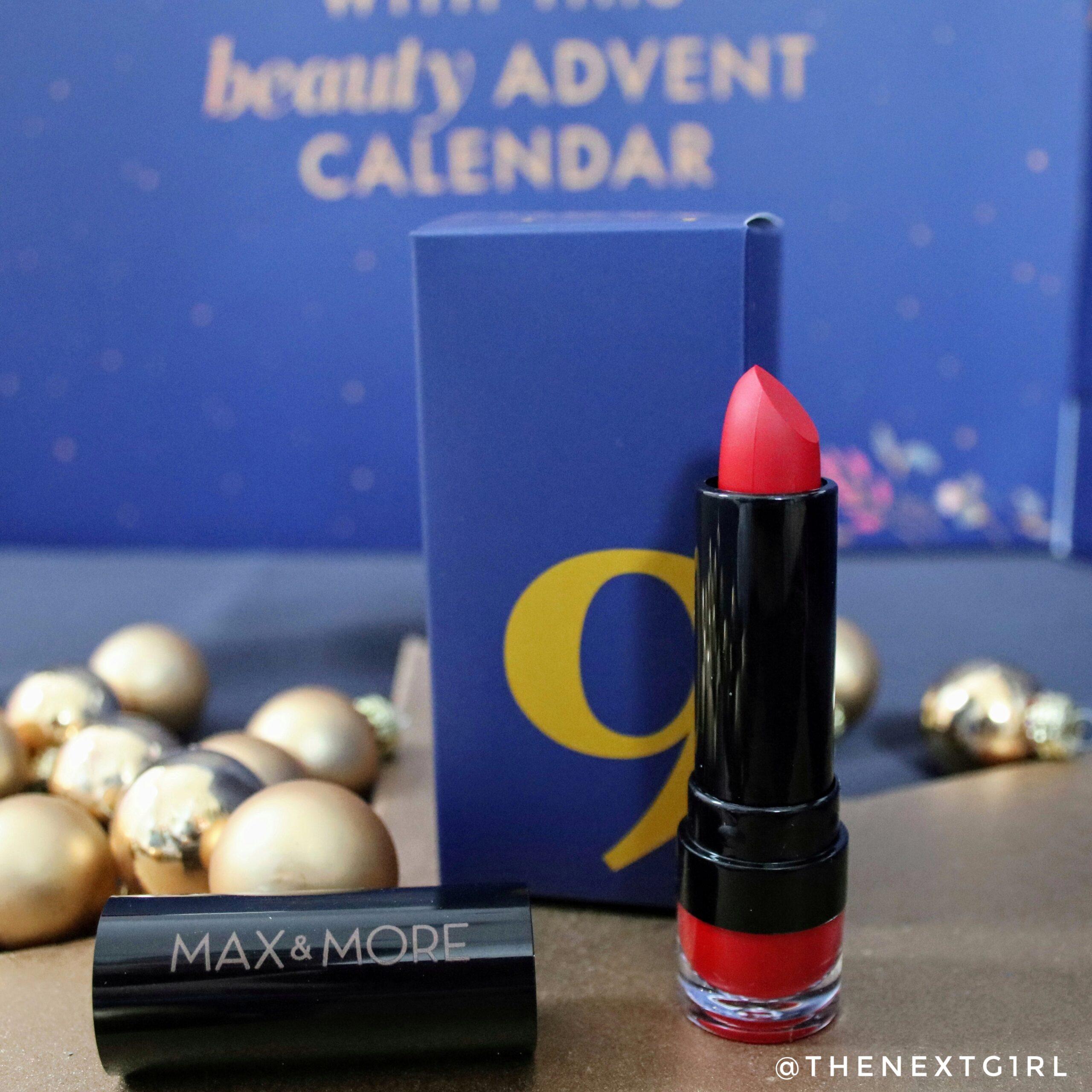 Rode lippenstift Max & More lippenstift kerst 2020